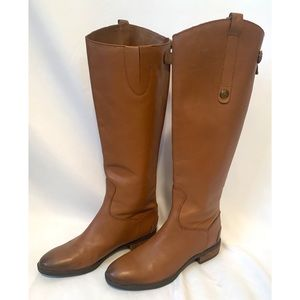 Sam Edelman Penny size 6.5 leather high rise boots